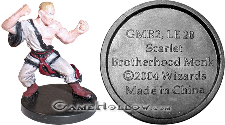 D&D Miniatures Giants of Legend Scarlet Brotherhood Monk (Promo