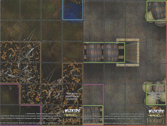 LAIR OF SMAUG HOUSE OF BEORN Desolation of Smaug Hobbit HeroClix MAP