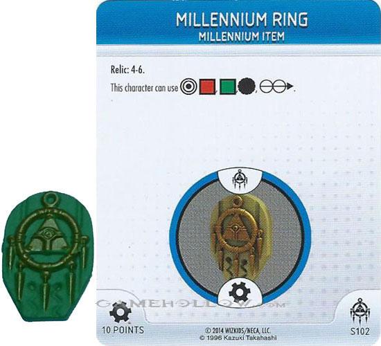 Battle of the Millennium set Millennium Eye #S101 Relic//3D! Heroclix Yu-Gi-Oh