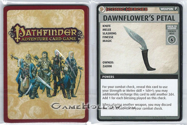 Pathfinder Miniatures Iconic Heroes 6 ACG Card Pack of 6
