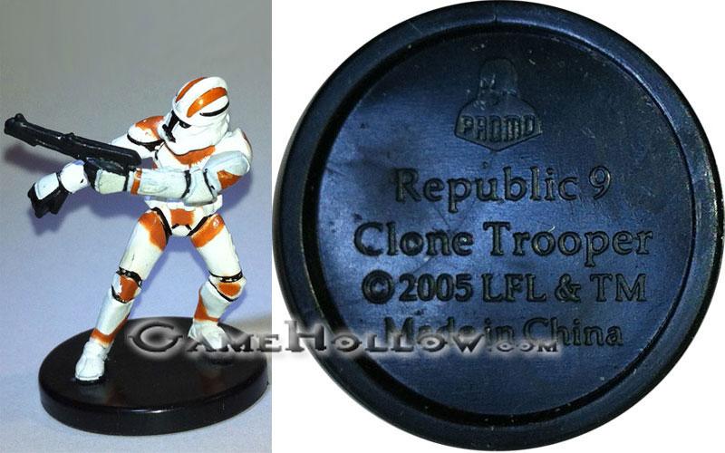 Star Wars Miniatures Revenge Of The Sith Clone Trooper Promo Promo